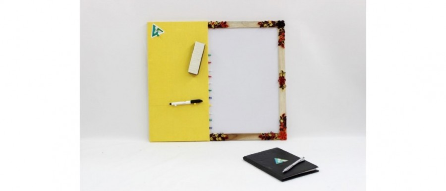 Buy  White Board with Pin Board Yellow Online