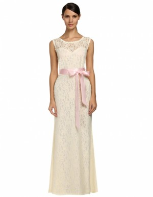 Buy Santana Women Lady Sleeveless Patchwork Splicing Full Gown Floor-length Party Evening Lace Bodycon Dress Online
