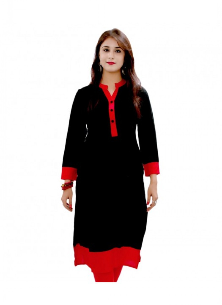 Buy Fabfirki Cotton With New Desingner Black Kurties Online
