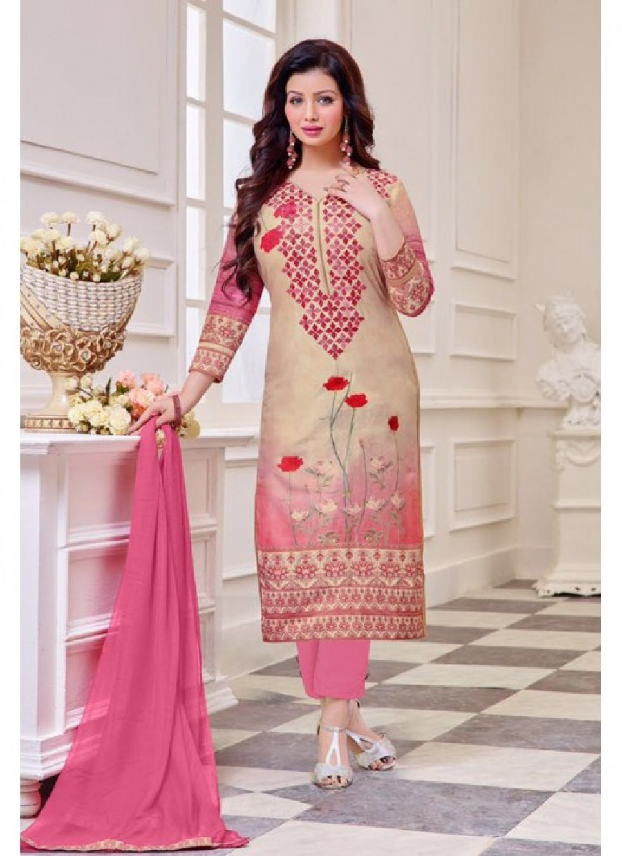 Online Shopping Fabfirli Pink Latest New Stylish And Designer Salwar Suit 537562