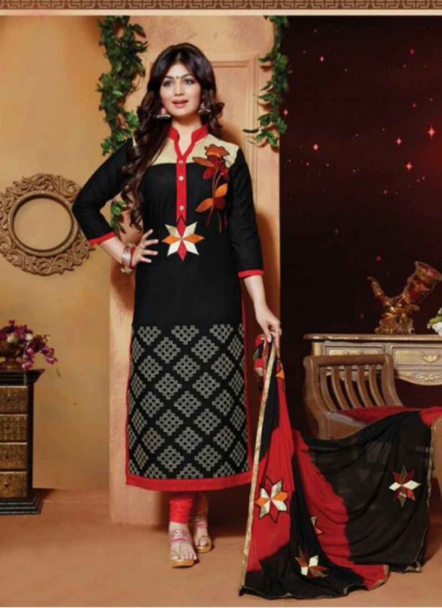 Buy Fabfirki Black Awesome Designer Salwar Kameez  Online