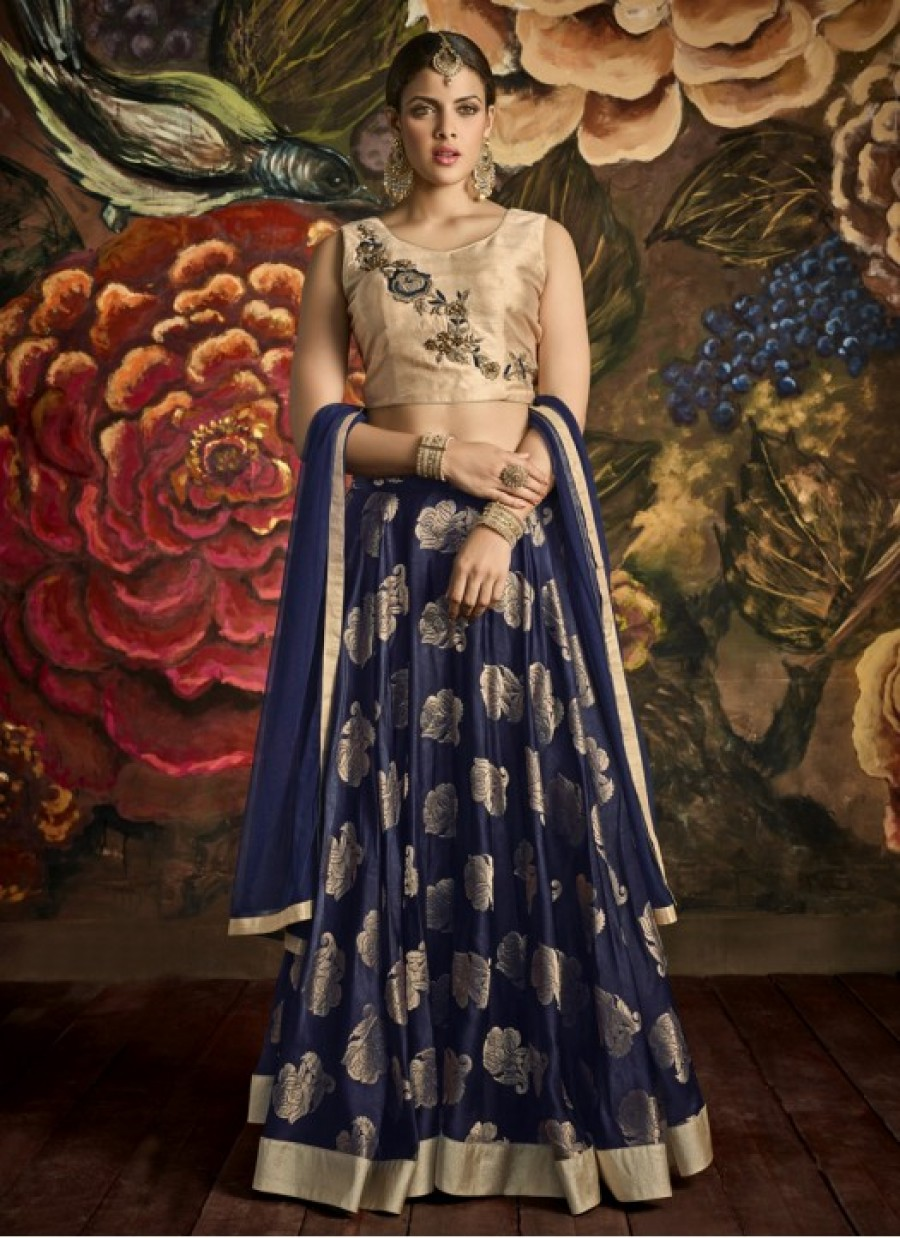 Buy Preferable Blue Embroidered Work Anarkali Salwar Kameez  Online