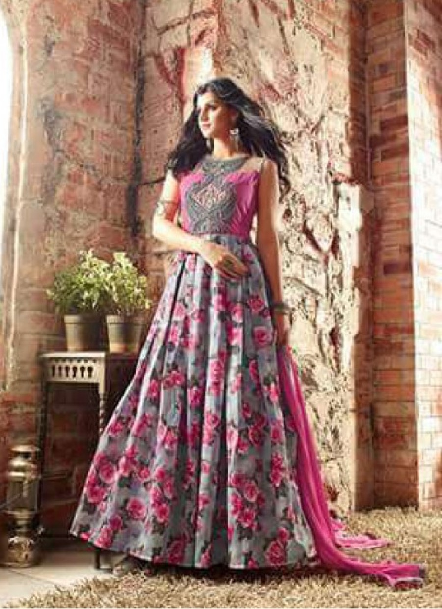 f0297cfc9d Purchase | Multi Color Embroidered Anarkali Suit | 537597