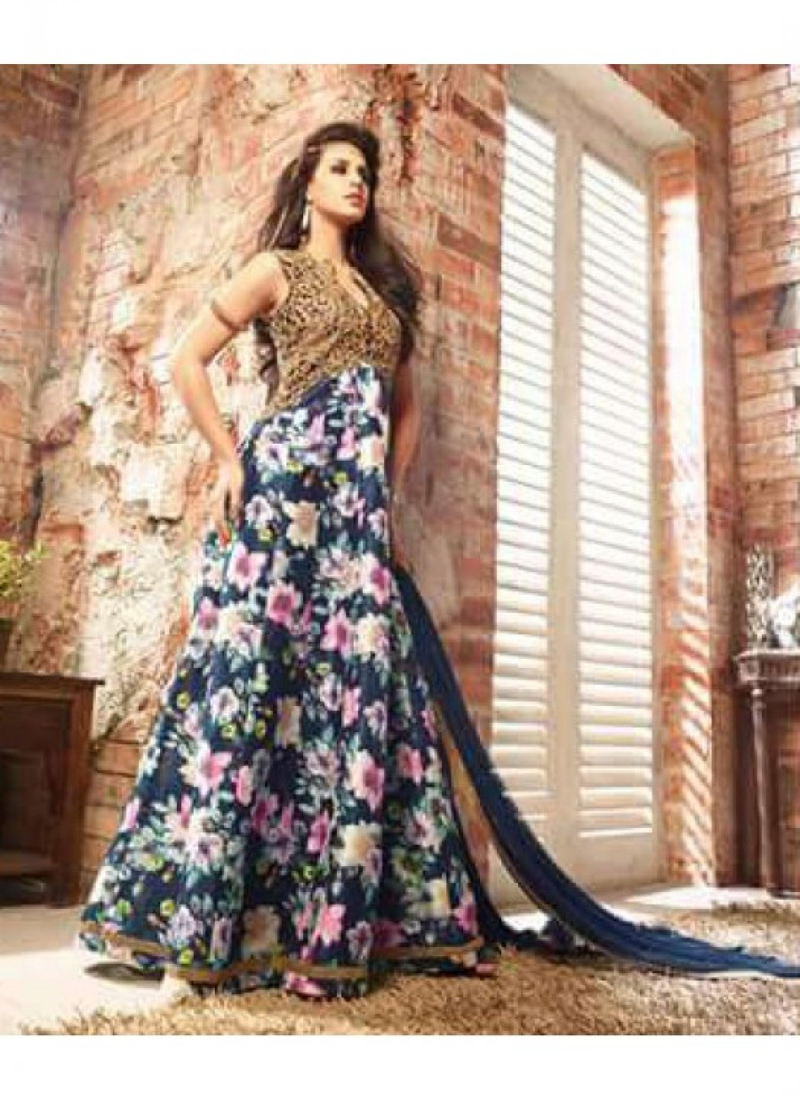 Buy Latest Heavy Embroidered Anarkali Suit  Online