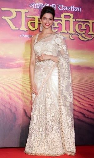 Buy Deepika Padukone Saree at Movie Ramleela Promotion Online