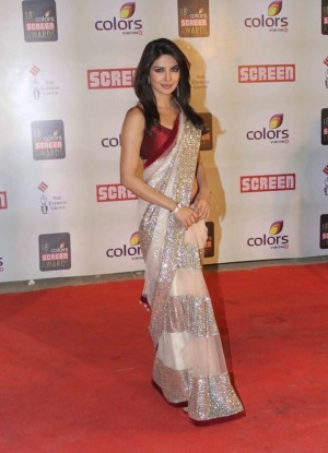 Buy Priyanka Chopra Screen Award Saree Replica Online