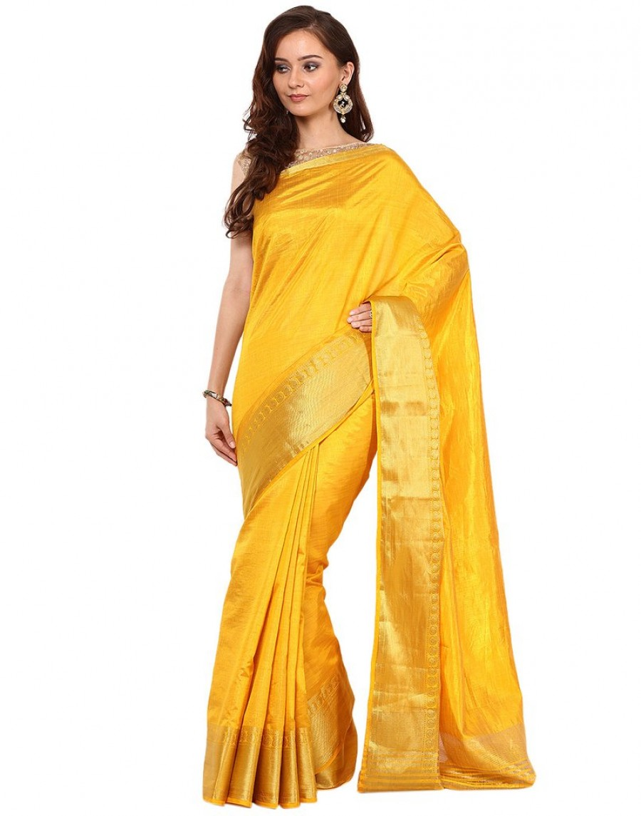 Buy Zari Woven Handloom Silk Saree By Meena Bazaar Online