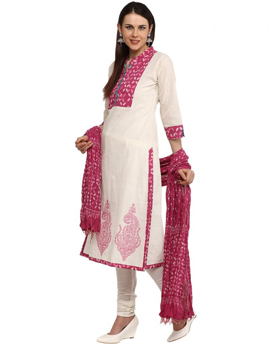 Purchase Online   Cotton Suit With Printed Yoke And Paisely ...