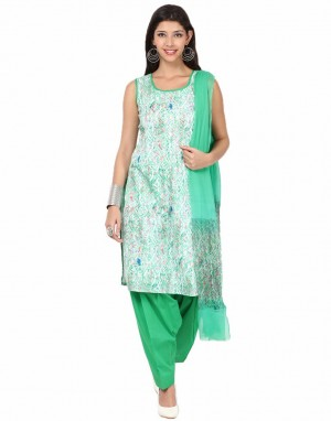 Buy Unstitched Printed Cotton Suit By Meena Online