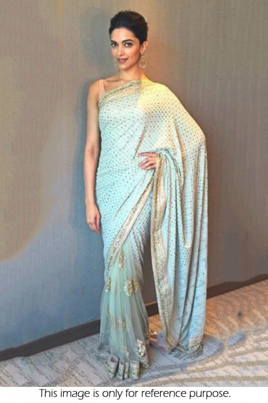 fb0a14d1c5 Buy Deepika Padukone Georgette and Nylon Net Designer Saree In Sky Blue  Colour NC2264 Online