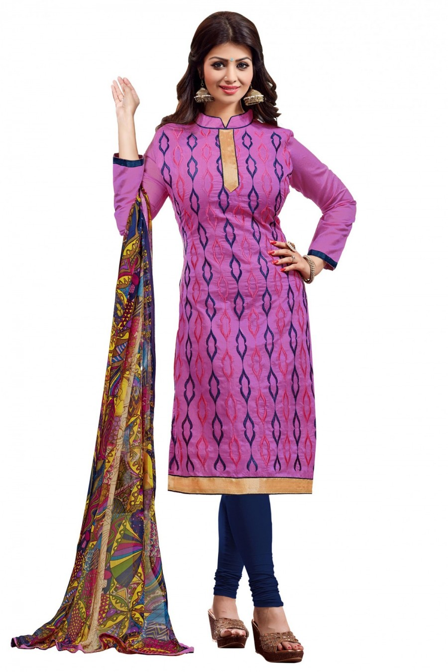 Pick Online | Bollywood Ayesha Takia Chanderi and Cotton Party Wear ...