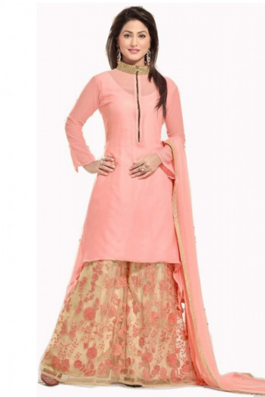 Online Shopping Bollywood style Hina Khan Georgette Party Wear ...