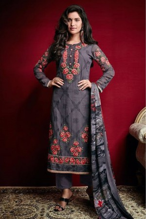 Buy Georgette Party Wear Pant Style In Grey Colour Online