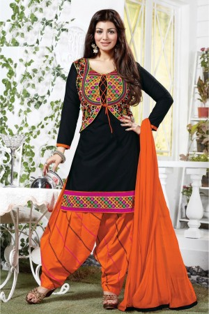 Buy Bollywood Ayesha Takia Cotton Party Wear Patiala Salwar Kameez in Black Colour  Online