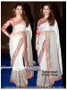 Rozdeal Adorable White Saree With Printed Blouse