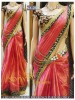 Rozdeal New Pink Shaded Designer Saree With Heavy Worked Blouse