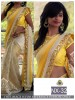 Rozdeal Pretty Yellow Half And Half Saree Buy Online