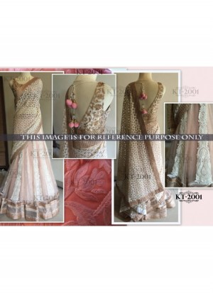 Buy Rozdeal Newest Cream And Brown Net Lehenga Choli Online