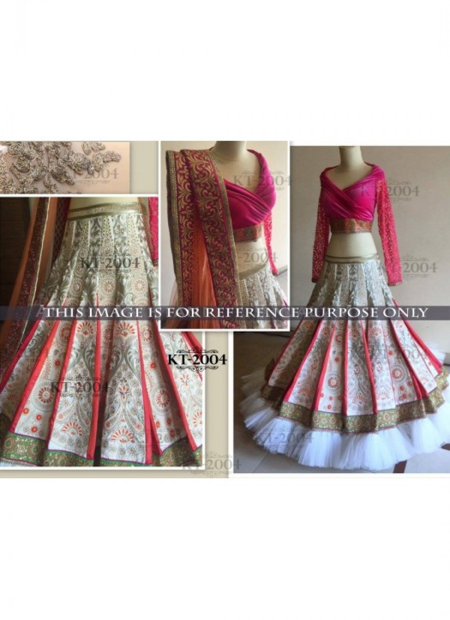 359b4c4d87 Online Shopping Rozdeal Amazing Pink And White Heavy Design Lehenga ...