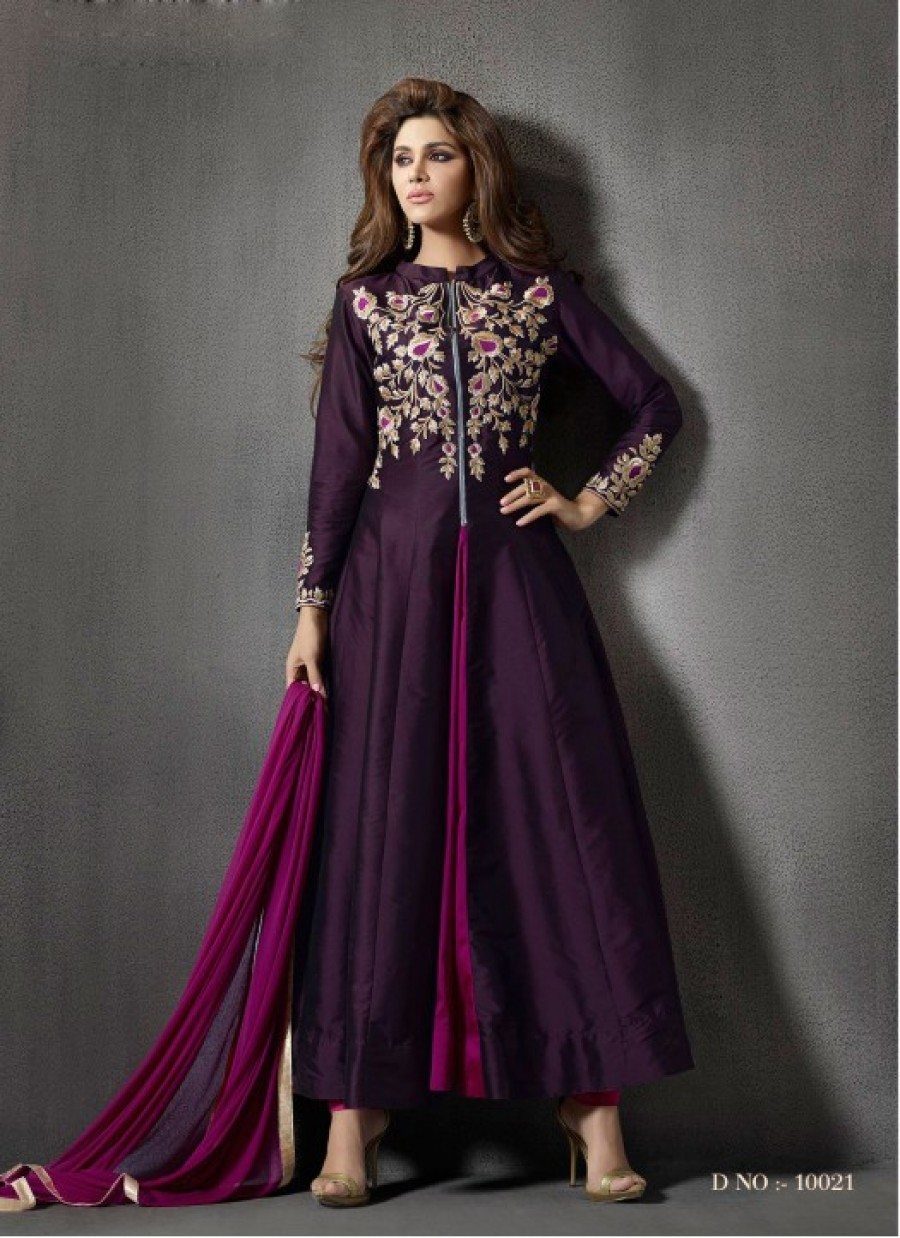 Buy Rozdeal New Beautiful Purple Color Anarkali Suit Online