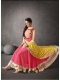 Rozdeal New Georgette Double Flair Anarkali Suit