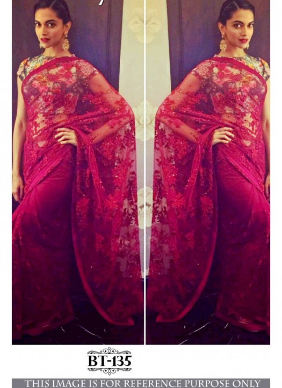 45fe94e96f Buy Exclusive Rozdeal Fancy Maroon Naylon Net Bollywood Saree at ...