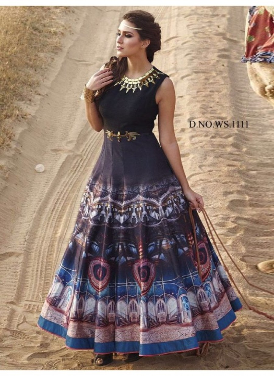 Purchase Online  Rozdeal New Black andBlue Pure Bhagalpuri Printed ...