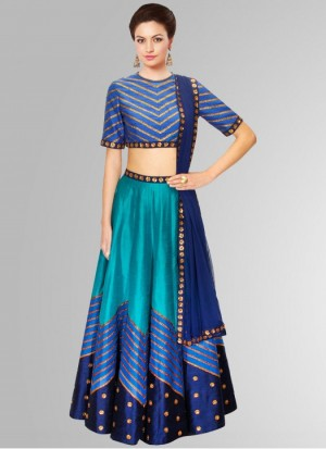 Buy Rozdeal Navratri Special Blue Color Designer Semi Stitched Lehenga Choli Online