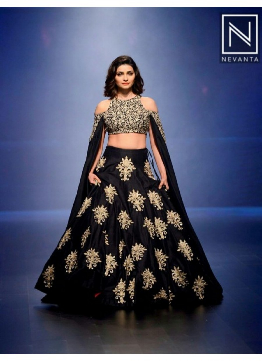 Buy Rozdeal New Designer Black Heavy Embroidery Work Lehenga Choli Online