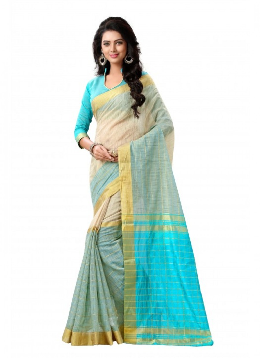 Buy Rozdeal new Tussar Silk Multi Color printed Saree Online