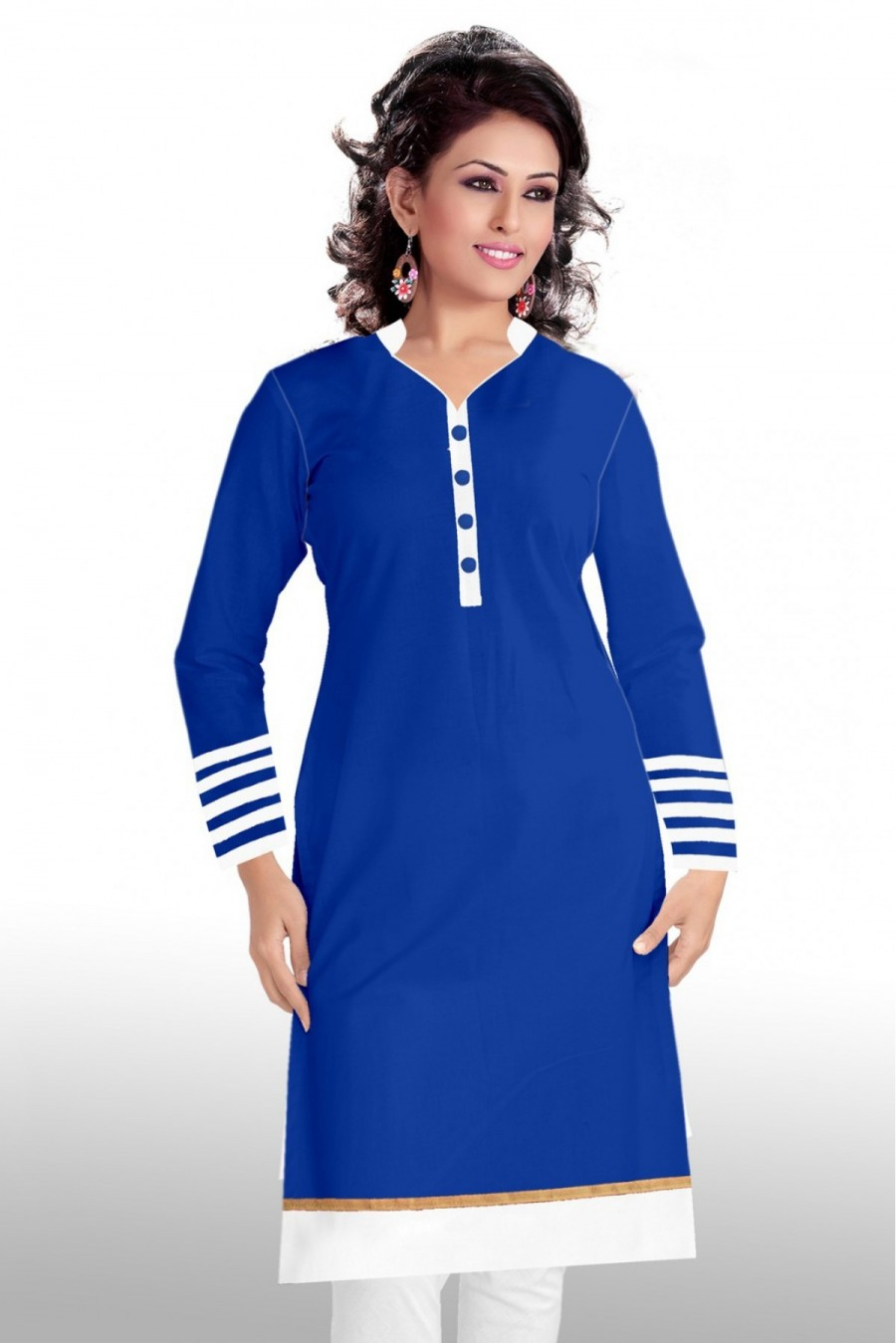 Buy Cotton Casual Wear Kurti In Blue Colour Online