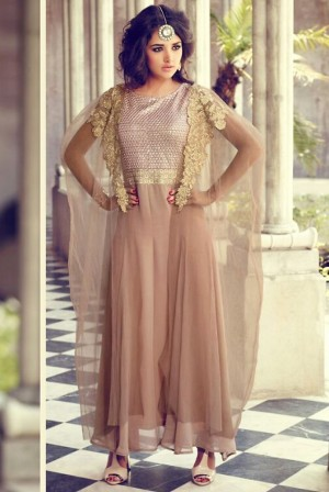 Buy Pink Net Narrow Pant Suit With Dupatta  Online