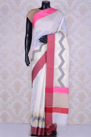 Buy Off white captivating cotton saree WE202427 Online