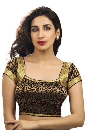 Buy Embroidered Blouse Black Lace work BL1540 Online