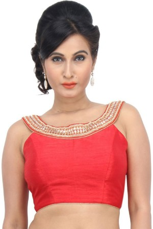Buy Embroidered Blouse Red Kundan work BL1572 Online