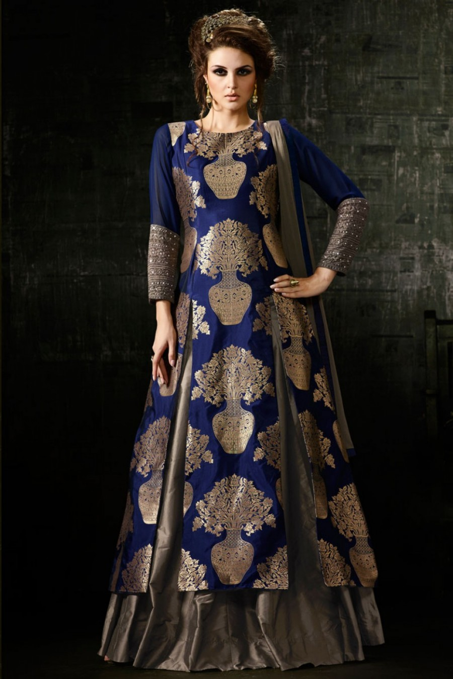 Purchase Silk Long A Line Sharara Partywear Indian