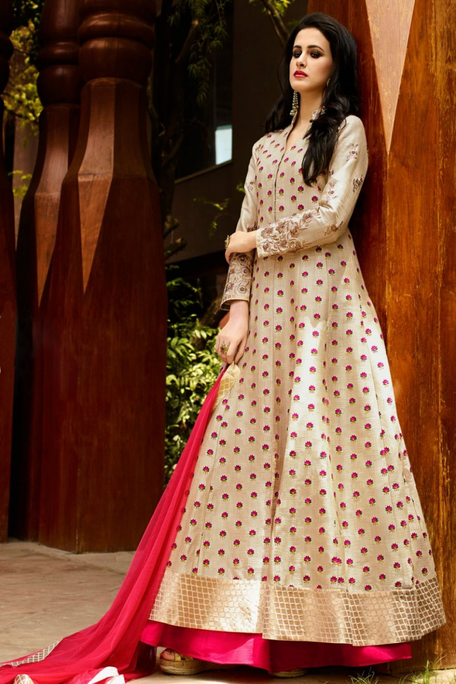 98324f5650e4e Buy Resham Work And Embroidered Party Wear Designer Pink Color Lehenga in Raw  Silk Fabric Online