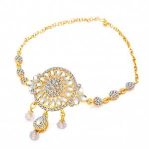 Buy Sukkhi Modern Gold Plated AD Bajuband For Women Online