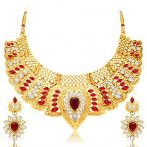 Buy Sukkhi Gorgeous Gold Plated AD Necklace Set For Women Online