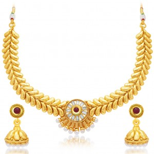 Buy Sukkhi Angelic Gold Plated AD Necklace Set For Women Online
