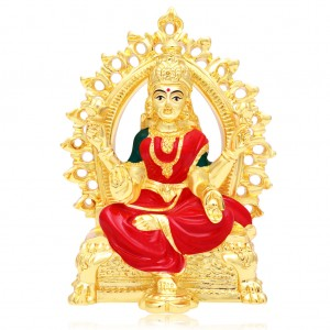 Buy Sukkhi Glistening Hand Painted Gold Plated Laxmiji Spiritual Idol Online