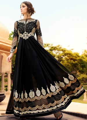 Buy Black Embroidered Anarkali Online