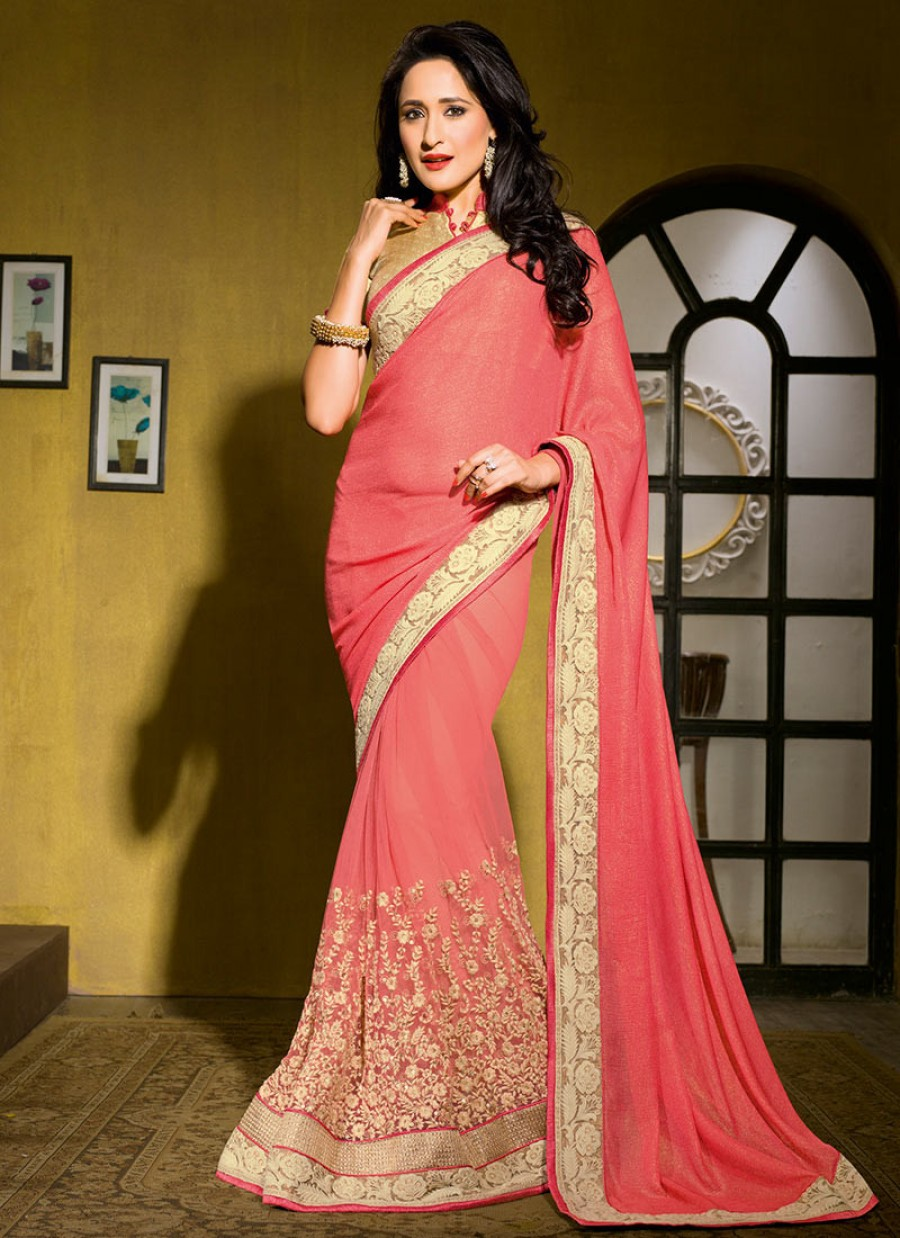 3924342e1d Buy PINK EMBROIDERED SAREE Online