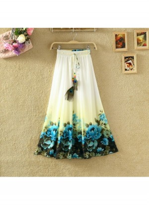 Buy Ladies Flavour Presents Printed White Skirt Online