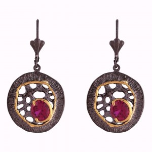 Buy Black Gold Red Trendz Earrings Online