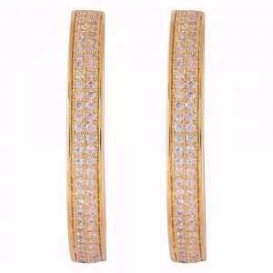 Buy Gold Colored Studded C Earrings Online