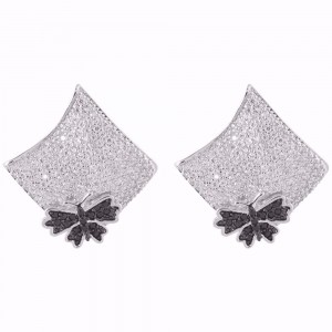 Buy Rhodium Plated Bella Earrings Online