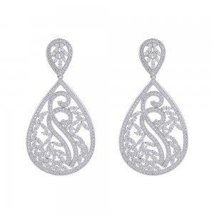 Buy Rhodium Plated Estella Earrings Online