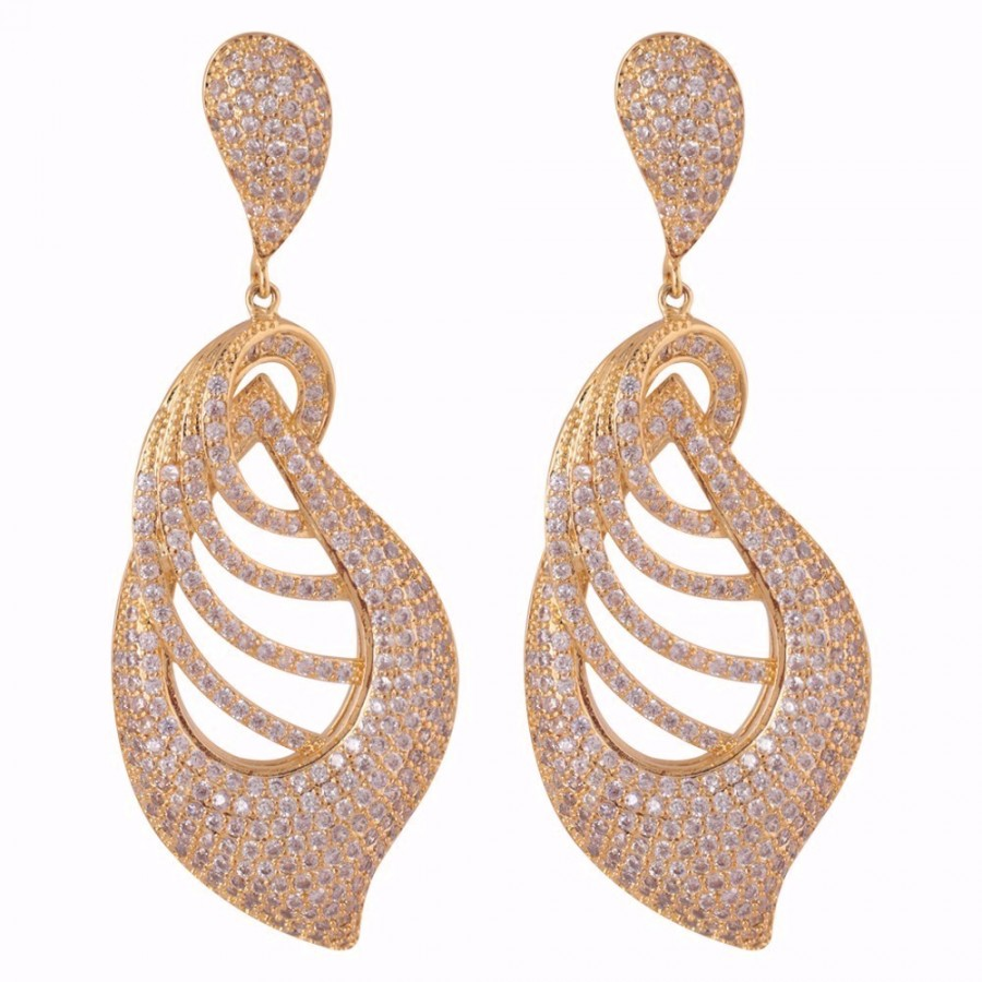 Gold Colored Bespangle Earrings Online
