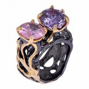 Buy Black Gold Twin Color Ring Online
